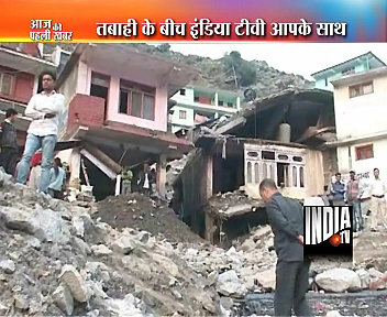 India TV Live reporting - Ground Zero Uttarakhand !