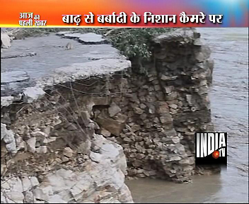 India TV at Ground Zero- Kedarnath Shrine !